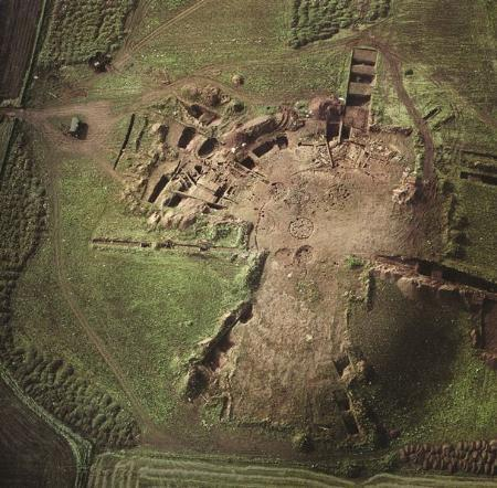 Excavation site at Broxmouth Hillfort, East Lothian